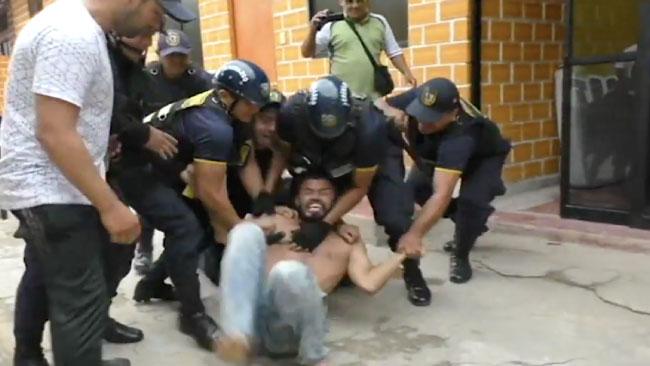 Detienen a ciudadano colombiano por causar destrozos en alojamiento