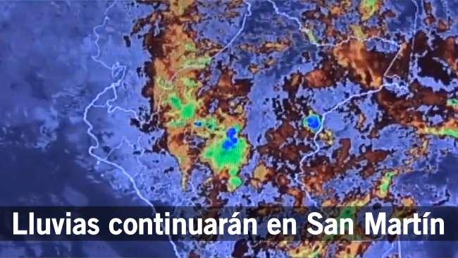 Anuncian lluvias, vientos fuertes  y ola de frio para la región San Martín