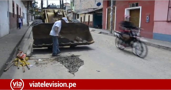 Tras declarar en emergencia jirón Tarapoto realizan trabajos de mejoramiento
