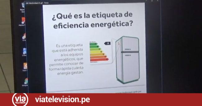 Indecopi brinda detalles de nueva ley de electrodomésticos