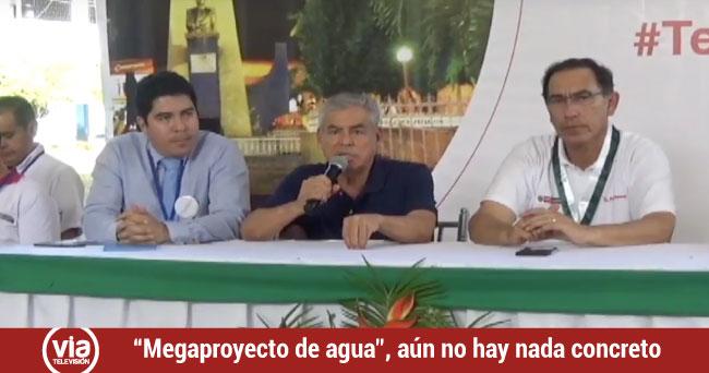 No existe nada concreto para megaproyecto de agua y a desagüe para Tarapoto