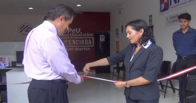 SUNAT y UPeU inauguran primera  oficina NAF de la región San Martín