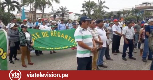 Productores de arroz realizan marcha pacífica exigiendo libertad para sus dirigentes