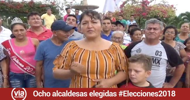 8 mujeres fueron elegidas  alcaldesas en San Martín