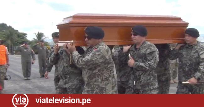 Cuerpo de suboficial del ejército abatido en el VRAEM llega a Tarapoto