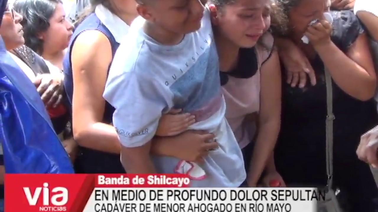 En medio de profundo dolor entierran  cadáver de menor ahogado en río Mayo