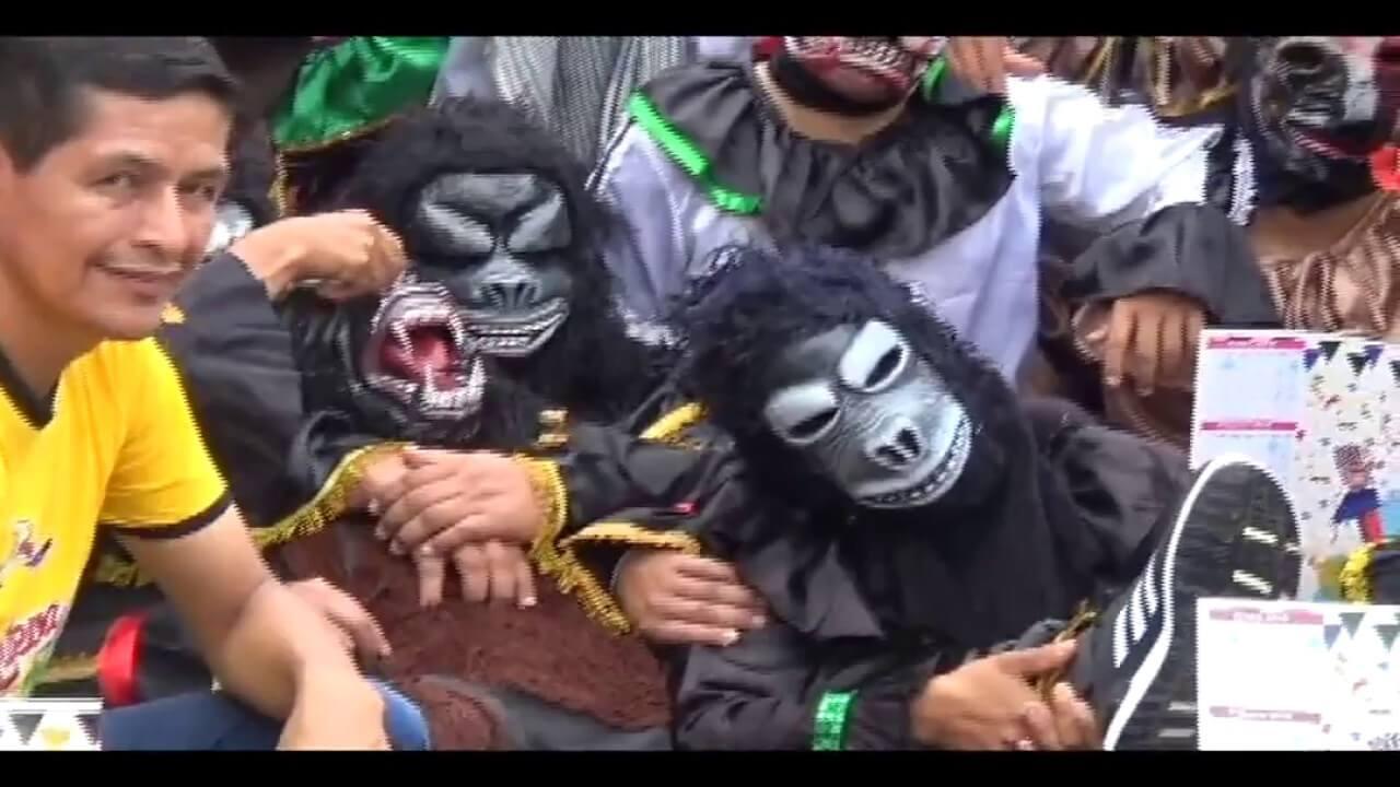 Los diablos de Rioja llegan a Tarapoto a promocionar carnaval
