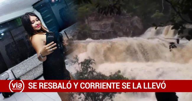 Joven desaparece en cascada Galindona y hasta el momento no es ubicada