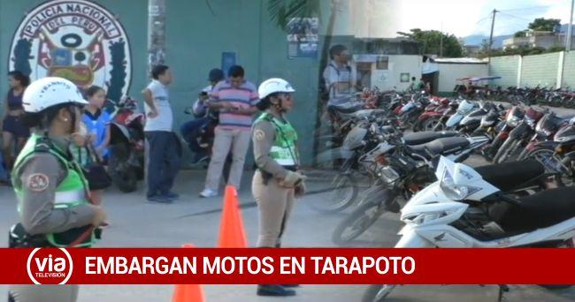 SUNAT embarga motocicletas en operativo policial de tránsito