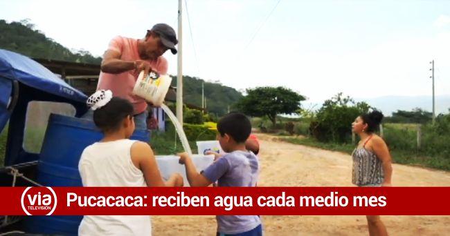 Pobladores de Pucacaca denuncian que tienen agua cada 15 días
