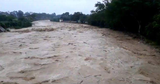 Morales: sorprendente incremento de caudal del Río Cumbaza