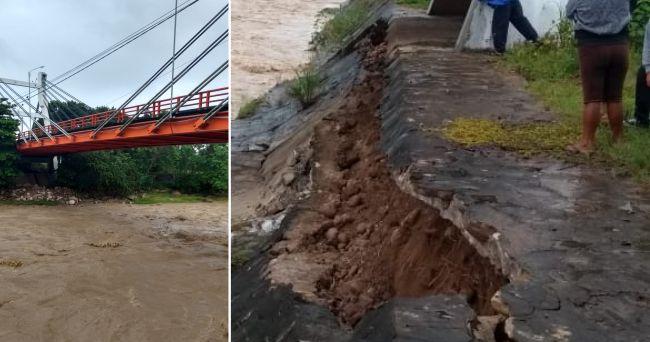 Defensa ribereña de Puente Atumpampa erosionó tras crecida del río