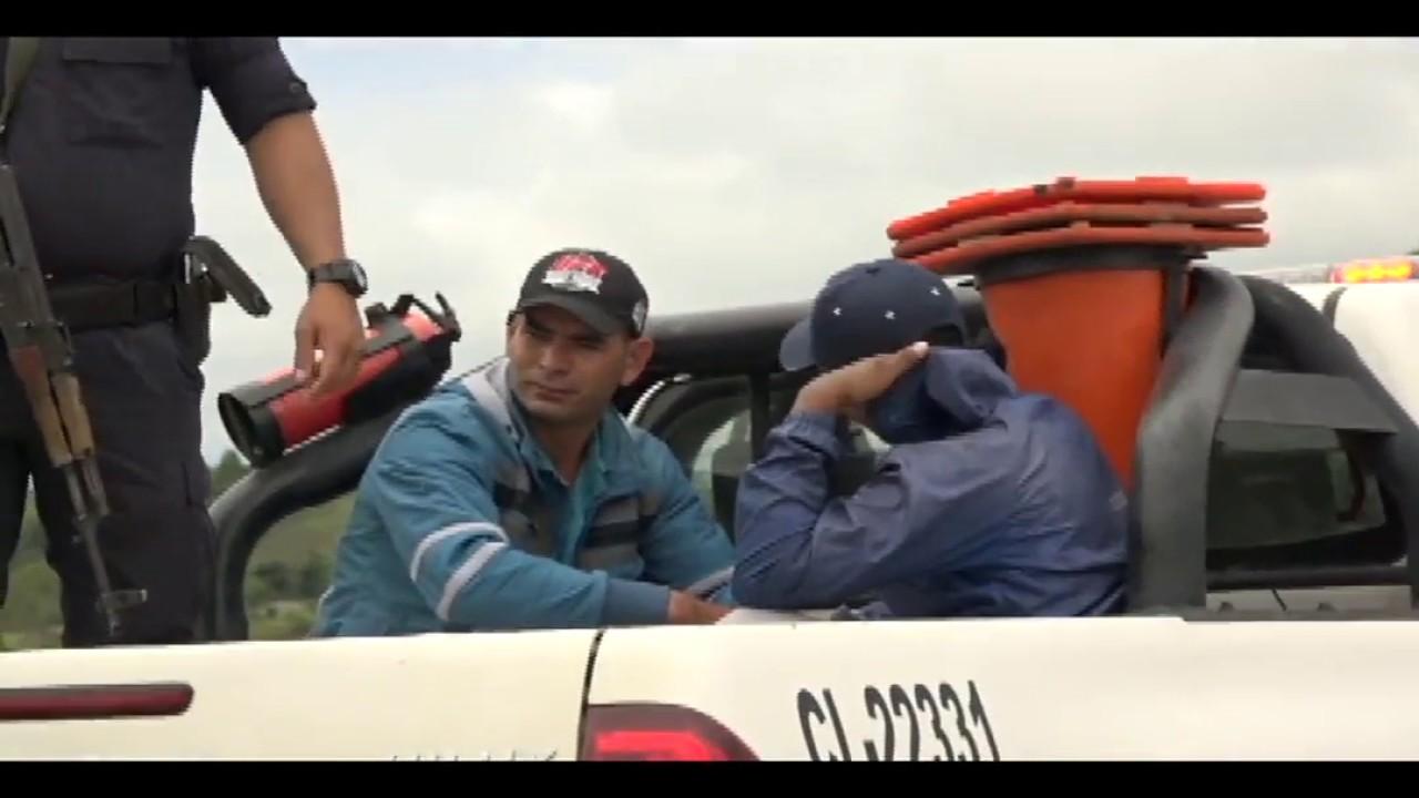 Intervienen a tres ciudadanos colombianos en la carretera a San José de Sisa.