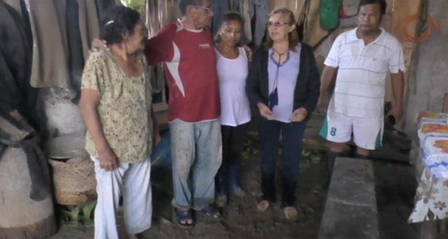 Desborde de quebrada deja varias viviendas inundadas y colapsadas