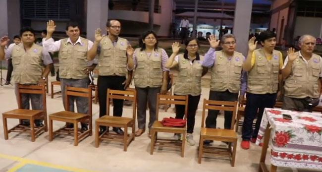 Juramentación de la brigada de autoprotección escolar de la I.E «FIR»