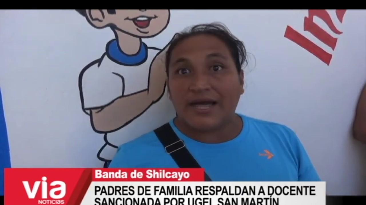 Padres de familia respaldan a docente sancionada por la UGEL San Martín