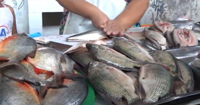 Gran demanda de pescado en el mercado de La Banda de Shilcayo