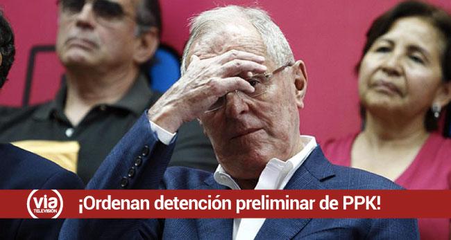 Poder Judicial ordena detención preliminar del expresidente Pedro Pablo Kuczynski