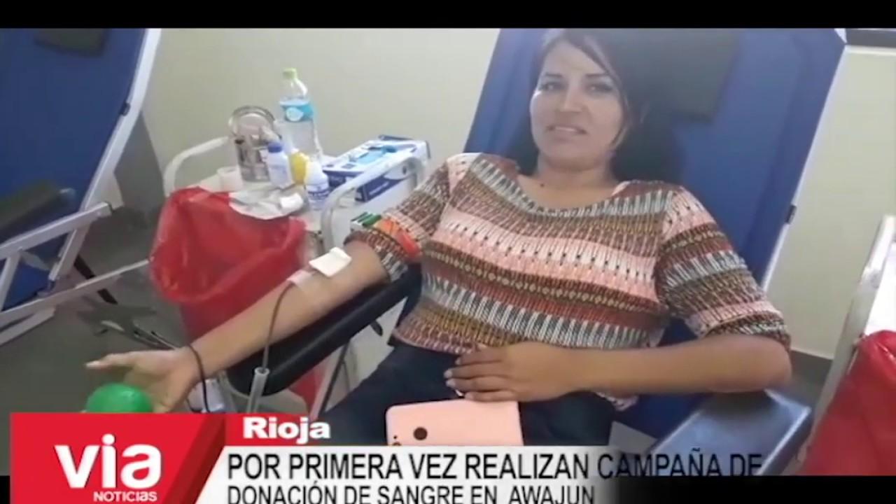Por primera vez realizan campaña de donación de sangre en Awajún