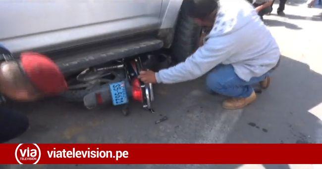 Accidente de tránsito durante simulacro de sismo deja un policía herido