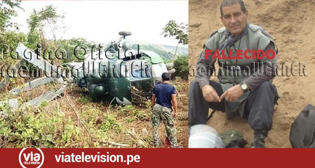 Tragedia: helicóptero del ejército se accidenta en Bagua dejando 2 muertos y 4 heridos