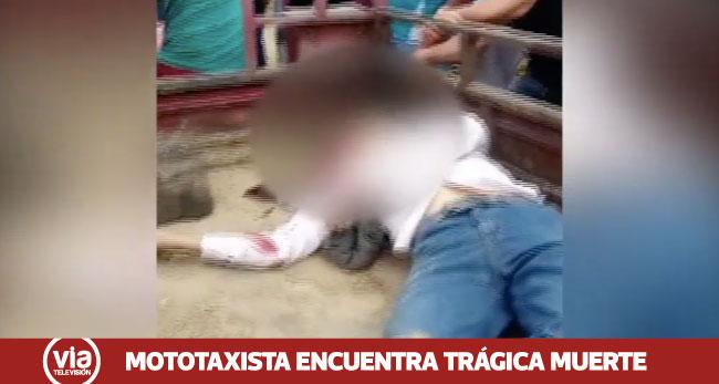 Tarapoto: mototaxista muere tras despistar su vehículo en la vía de evitamiento