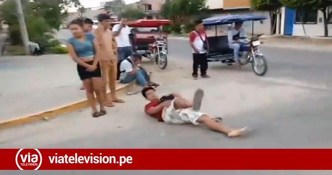 Dos heridos tras choque de motocicletas por no respetar señal de pare