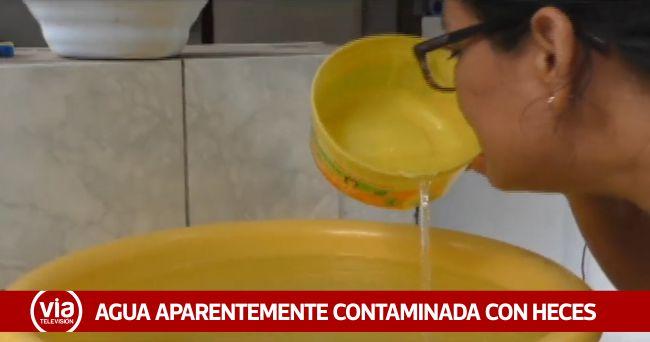 Agua potable llega a hogares aparentemente contaminado con desagüe