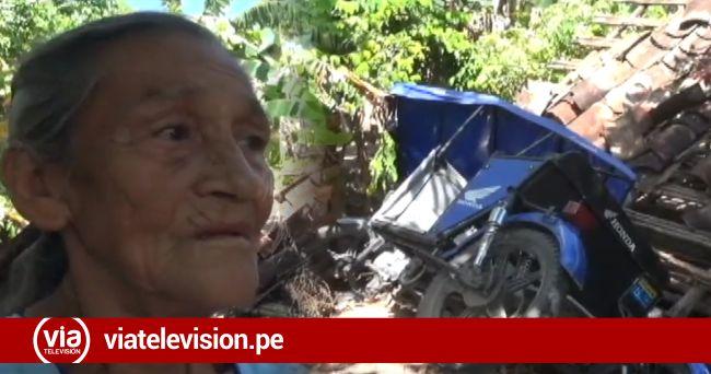 Vivienda de anciana sufre daños por sismo registrado el domingo