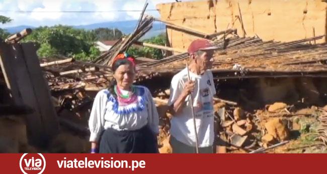 Lamas: ancianos de la comunidad nativa el Wayku se salvan de morir en el sismo