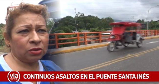 Tarapoto: asaltos a mano armada se registran cerca del puente Santa Inés