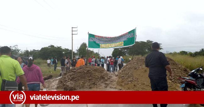 Agricultores de la provincia de Bellavista bloquean carretera durante paro