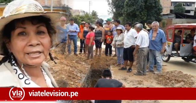 Tarapoto: vecinos impiden instalación de nuevas redes de agua