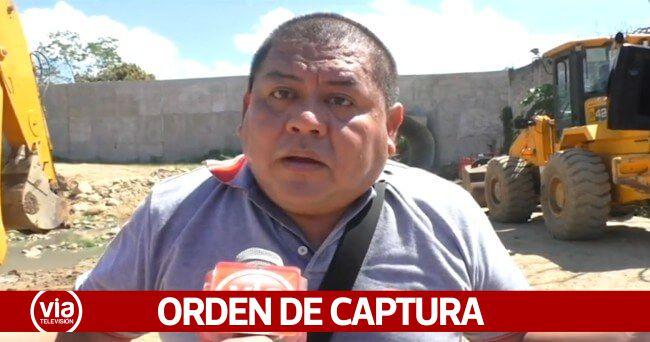 Dictan orden de captura para exalcalde de Morales Carlos Philco