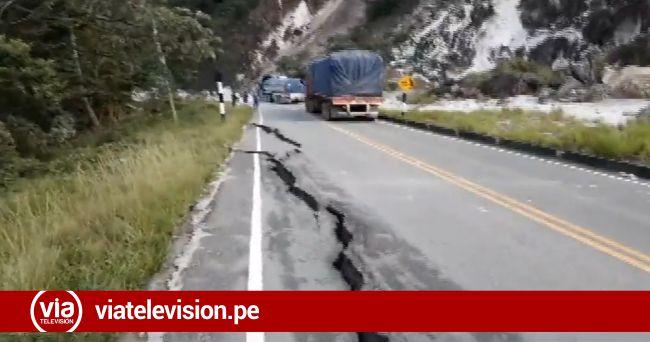 Carretera Yurimaguas: terremoto ocasionó derrumbe de cerro y bloqueo de carretera