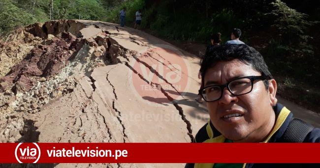 Carretera Puente Colombia Chazuta también se vio afectado con terremoto