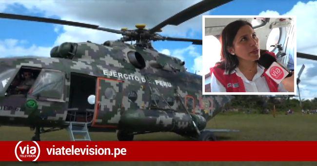 Loreto: Ministra de Educación sobrevoló distrito de Lagunas, epicentro del terremoto