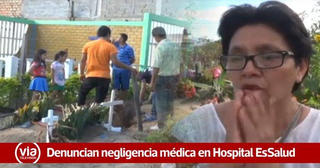 Denuncian presunta negligencia médica en el hospital de EsSalud