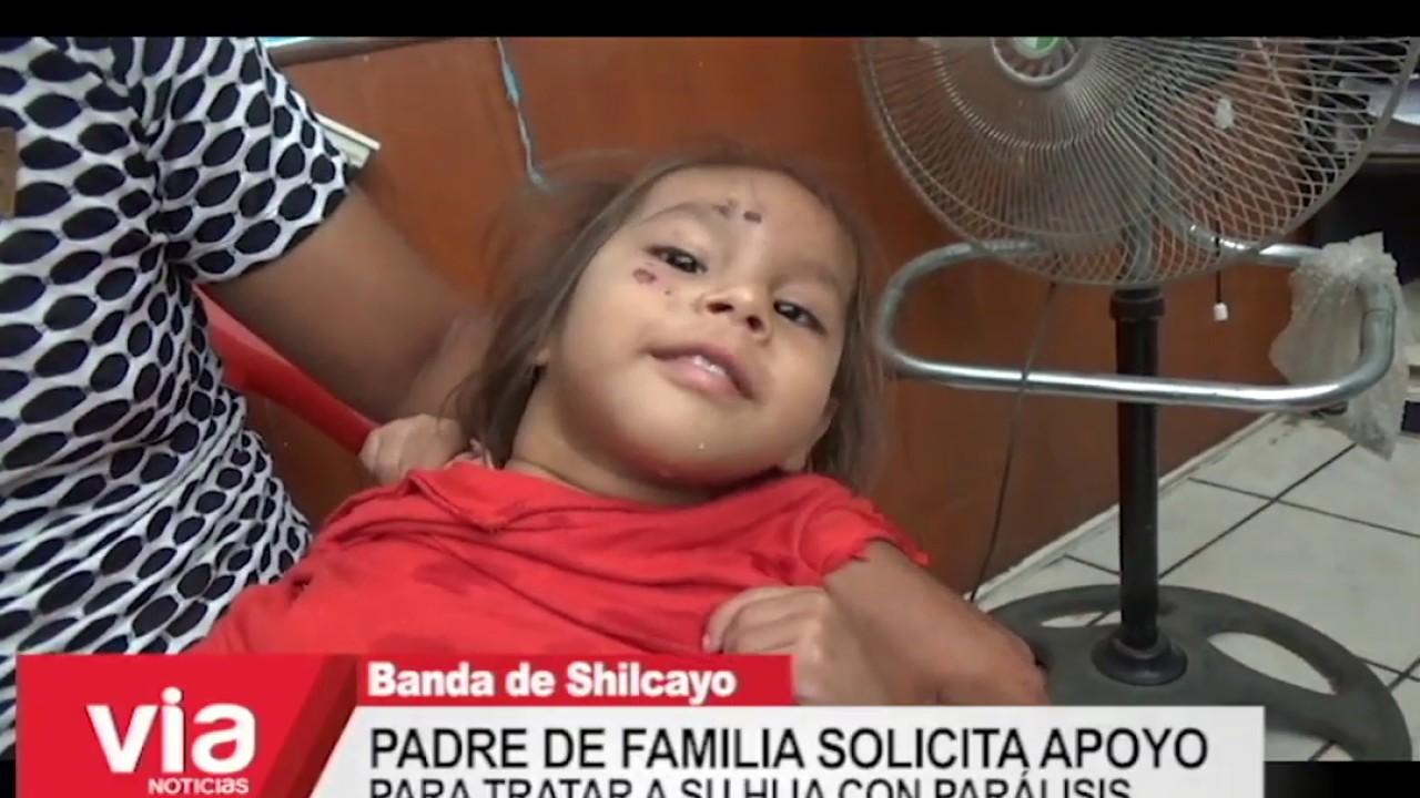 Padre de familia solicita apoyo para tratar a su hija con parálisis