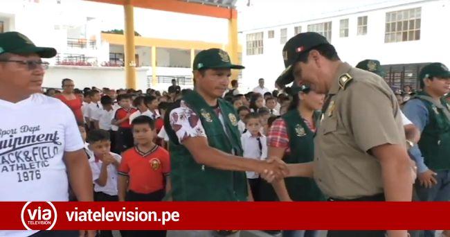 Padres de familia, docentes y PNP se unen para brindar seguridad