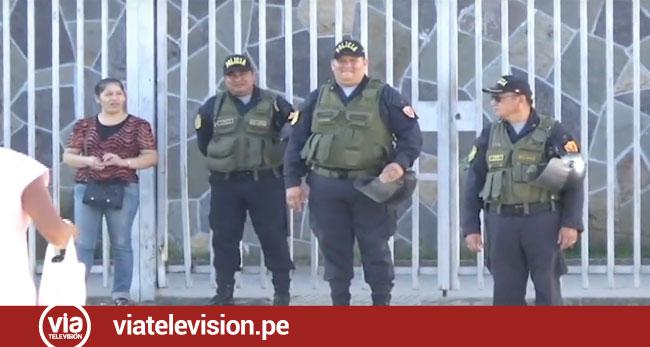 Tarapoto: PNP desplegó personal para prevenir disturbios durante protesta