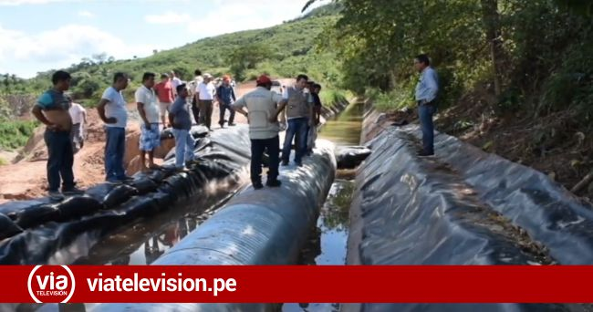 Irrigación Ponaza colapsa por fuerte sismo registrado el domingo