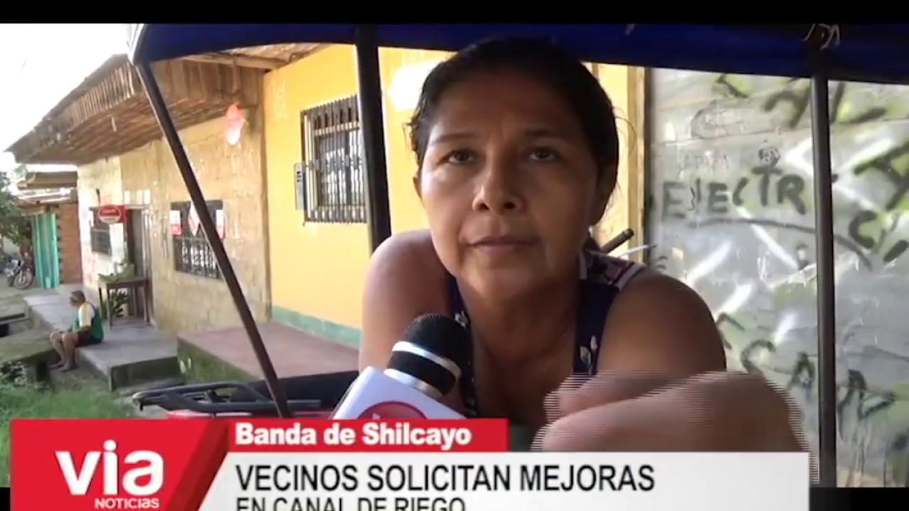 Vecinos solicitan mejoras  en canal de riego en La Banda de Shilcayo