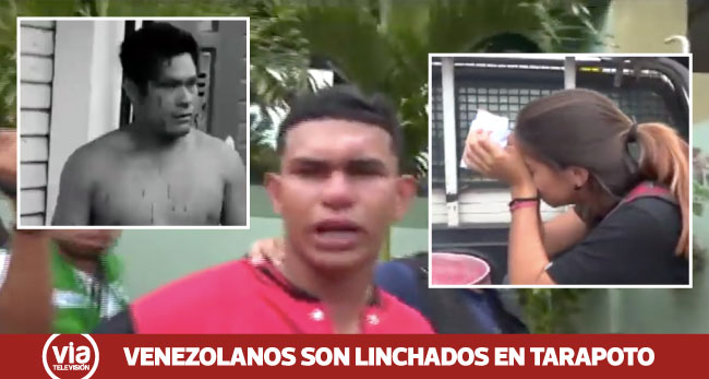 Tarapoto: propinan severa golpiza a venezolanos, por acuchillar a dos peruanos