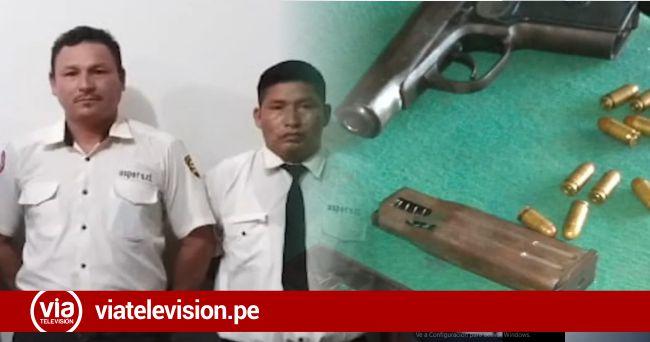 Intervienen a vigilantes por no tener licencia de uso de armas de fuego