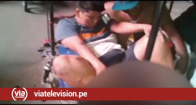 Tarapoto: dos heridos tras violento choque de motos en urbanización 9 de Abril