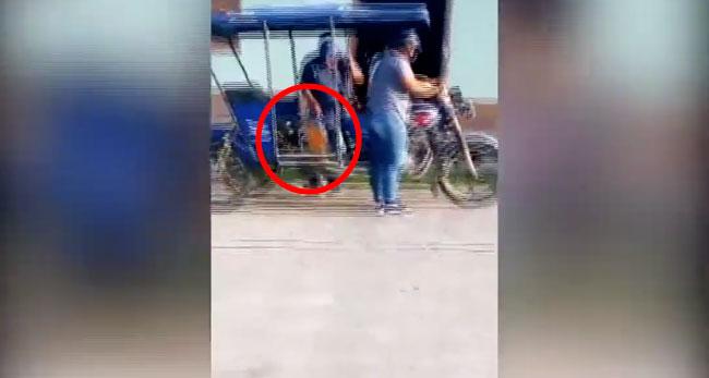 Shapaja: filman a personas abasteciéndose de combustible de local municipal