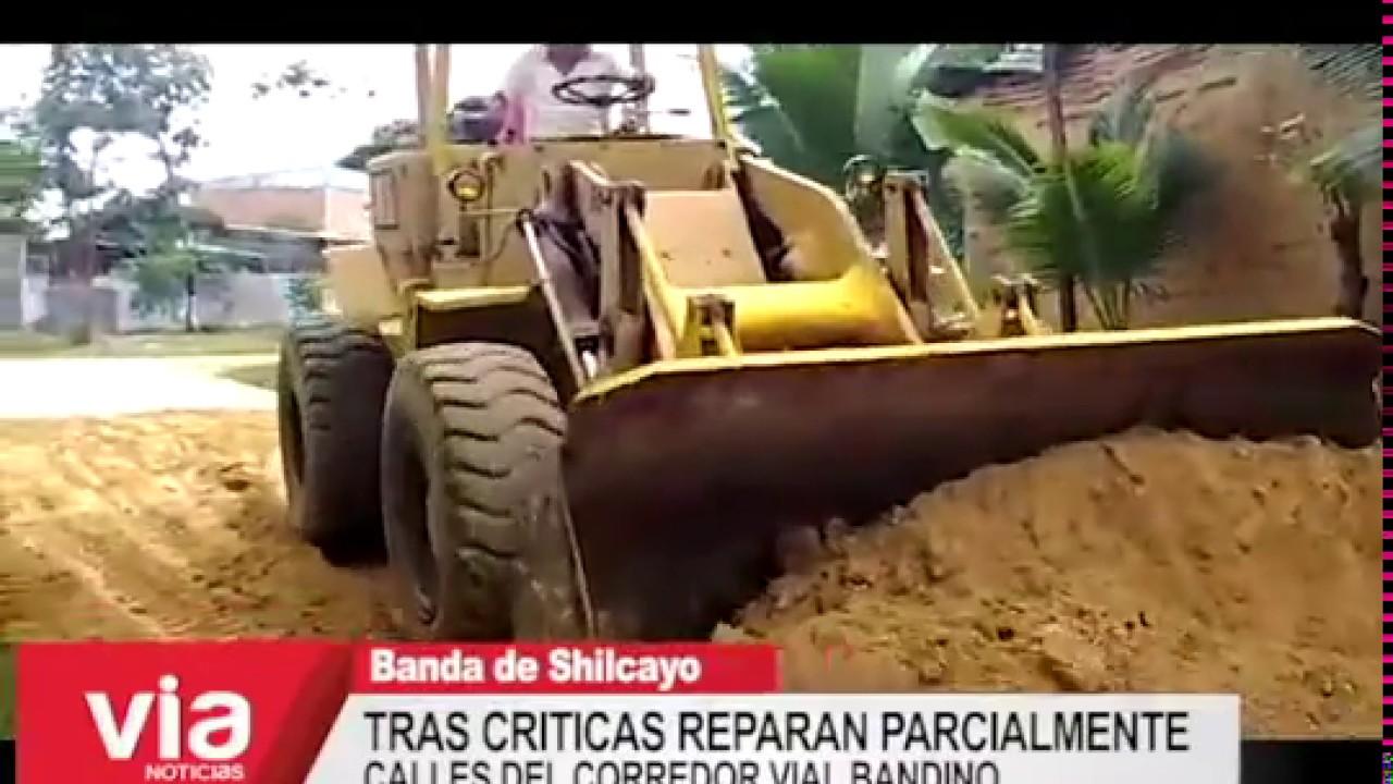 Tras criticas reparan parcialmente calles del corredor vial bandino