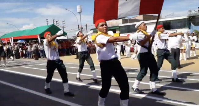 Tarapoto: desfile escolar por los 198 años de nuestra independencia