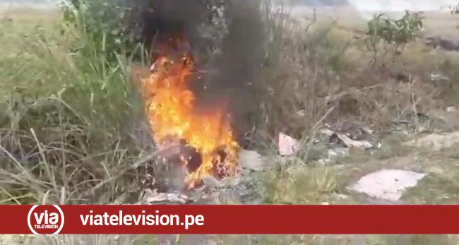 Incendio forestal causa alarma en vecinos de la vía de evitamiento